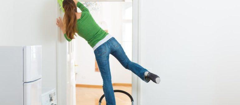 Wer improvisiert, erhöht sein Unfallrisiko beim Frühlingsputz
